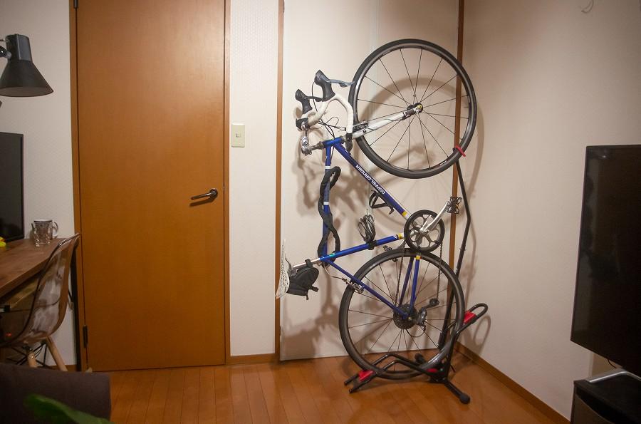 ミノウラの自転車縦置きスタンド