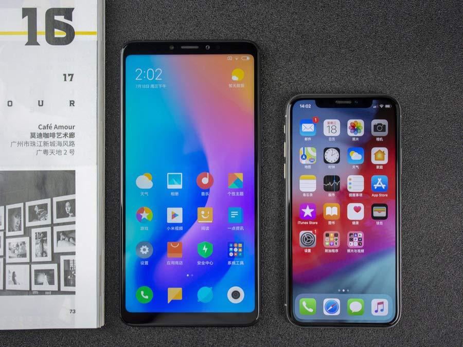 Xiaomi Mi Max 3 vs IphoneX