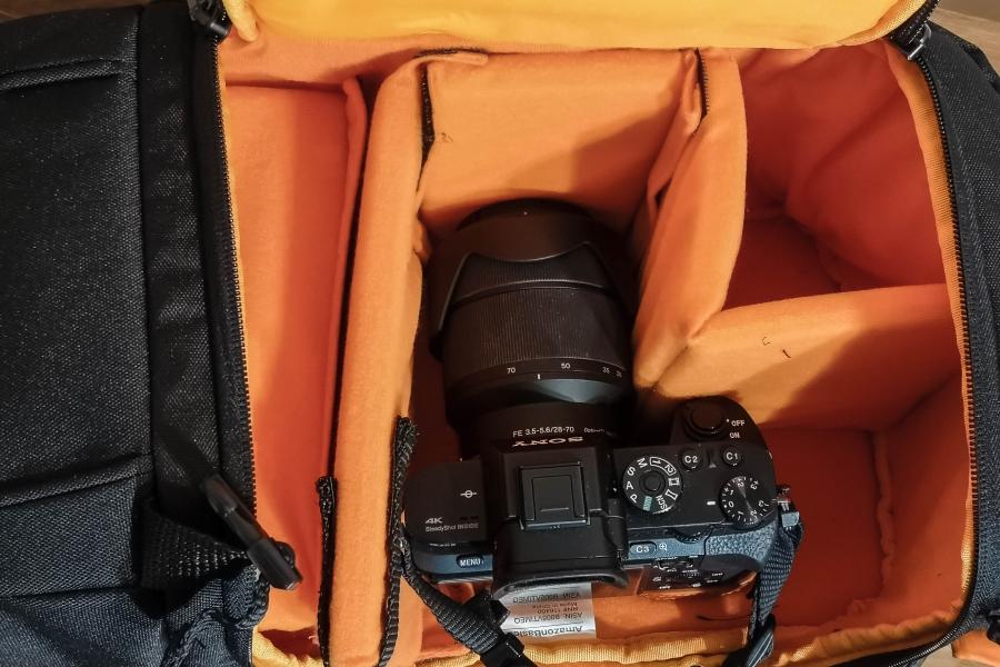 Amazonベーシック一眼レフカメラバッグ